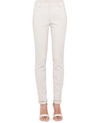 Fabiana Techno-Cotton Pants, Pebble