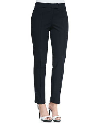 Straight-Leg Ankle Pants, Indigo