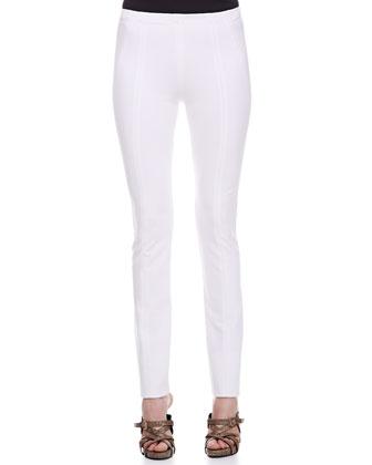 Seamed Leggings, White