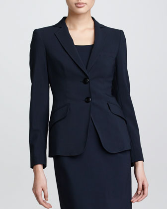 Two-Button Jacket, Midnight