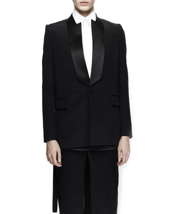 Notched-Neck Tuxedo Jacket
