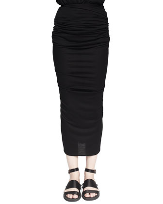 BACK-Zip Midi Skirt