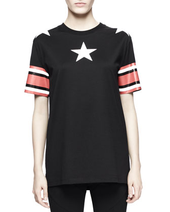 Short-Sleeve Stars-and-Stripes Tee