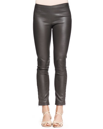Jellerton Skinny Leather Ankle Pants