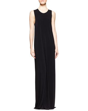Long Draped Jersey Dress