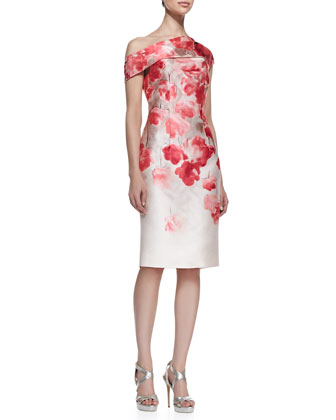 Floral Off-Shoulder Sheath Dress