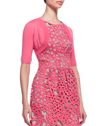 Half-Sleeve Shrug & Floral Guipure Lace Dress