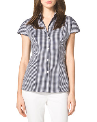 Check Stretch Poplin Shirt