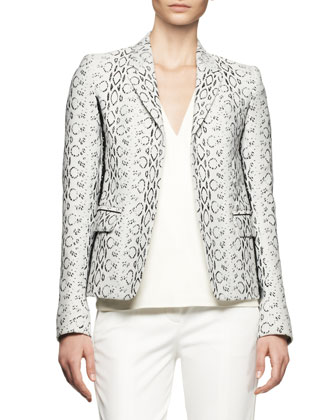 Abstract Viper-Print Blazer