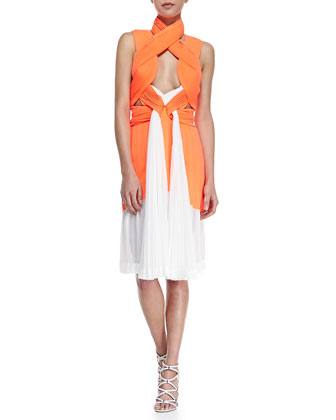 Neo Pleated Interlock Dress