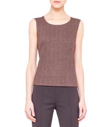 Scoop-Neck Herringbone Tank