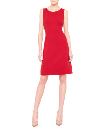 Sleeveless A-Line Wool Dress