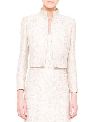 Shimmery Jacquard Short Jacket
