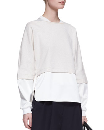 Double-Layer Combo Sweatshirt