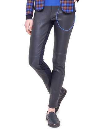 Leather and Jersey Fancy Leggings