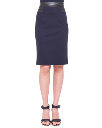 Waist-Trim Jersey Pencil Skirt