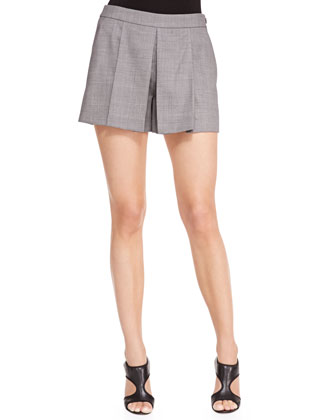 Pleat-Front Suiting Shorts