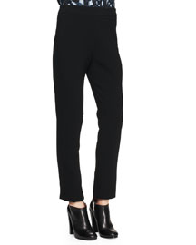 Notched Straight-Leg Stretch Pants