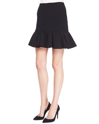 Lindley Flared Skirt, Black