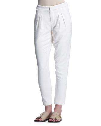 Light Cady Pants, Eggshell White