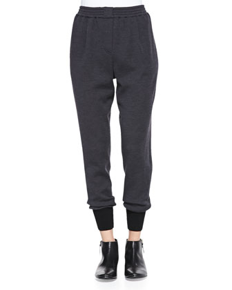 Wool Jersey Harem Pants