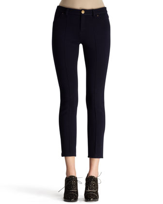 Flat-Front Compact Jersey Leggings