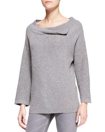 Cashmere Drop-Shoulder Sweatshirt