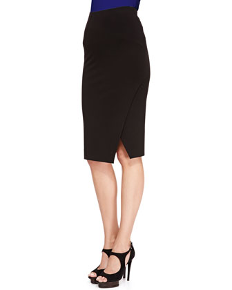 Jersey Slit Pencil Skirt