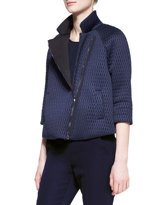 Scuba Mesh Zip-Front Swing Jacket