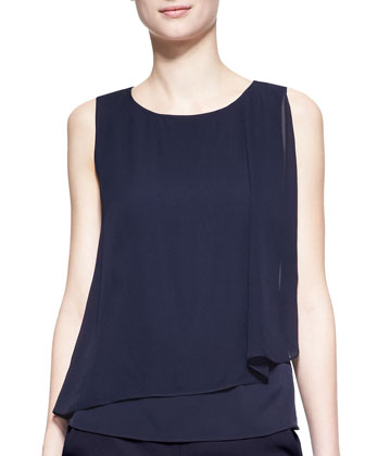 Sleeveless Draped CDC Blouse