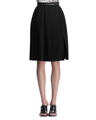 Zipper-Waist Accordion Skirt