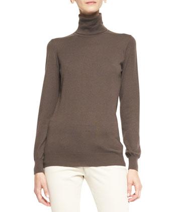 Dolcevita Piuma Cashmere Turtleneck Sweater