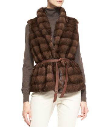 Losana Mink Fur & Cashmere Vest