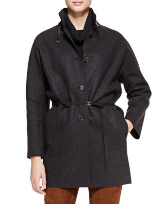 Spencer Belted Cashmere Coat