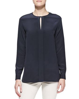Janel Flowing Silk Cady Shirt