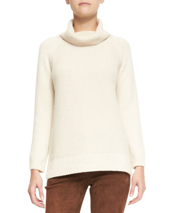 Tunica Paris Baby Cashmere Cowl-Neck Sweater