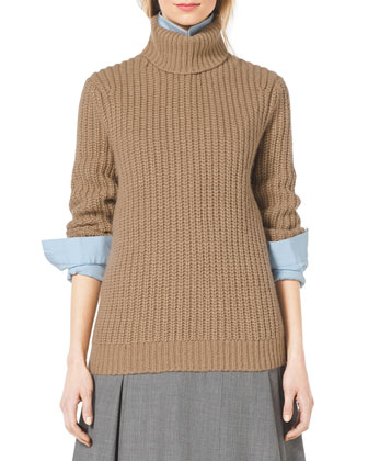Fisherman's Chunky-Rib Turtleneck