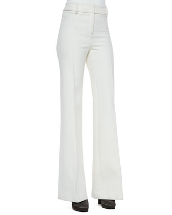 Flare-Leg Long Trousers