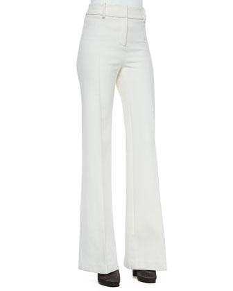 Flare-Leg Long Trousers