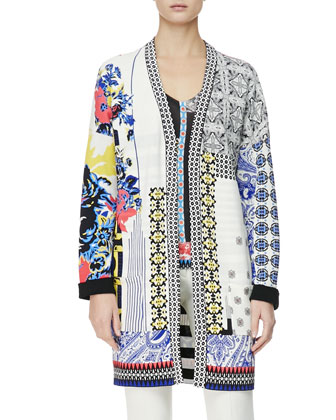 Multimedia Patch-Print Duster Jacket