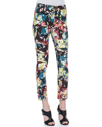 Melinda Fitted Printed Trousers