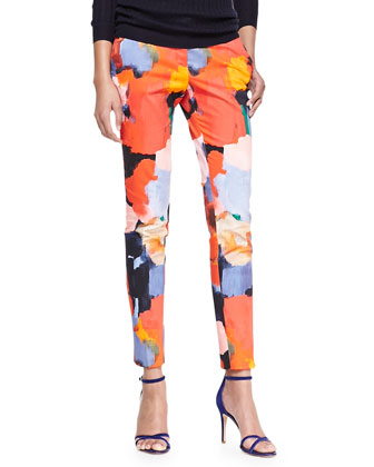 Painterly Printed Caroline Pants