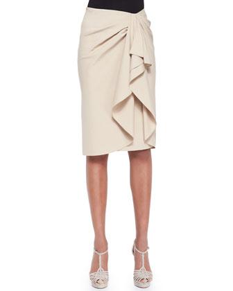 Madelaine Ruffle-Front Skirt