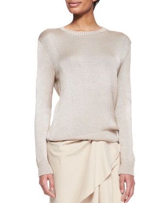 Silk-Cashmere Ballet Sweater