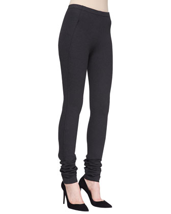 Extended Straight-Leg Jersey Pants