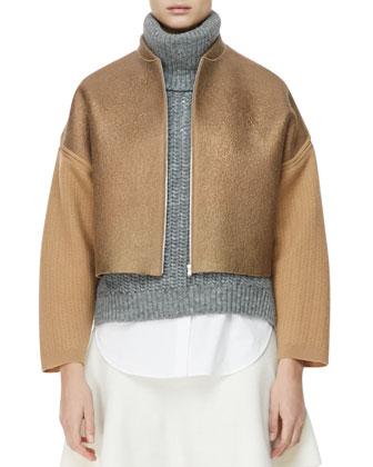 Felted Wool Jacket, Dune