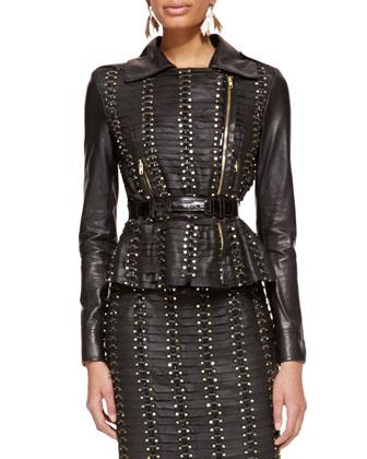 Alligator & Leather Belt, Black