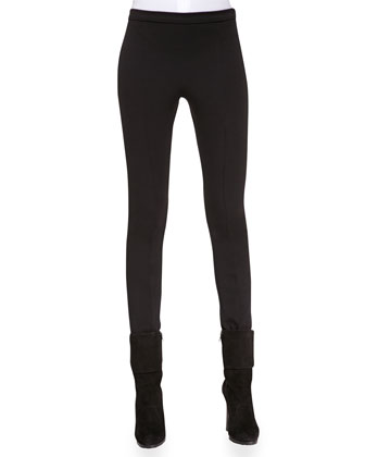 Skinny Wool-Blend Pants, Black