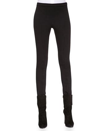 Skinny Wool-Blend Pants, Black