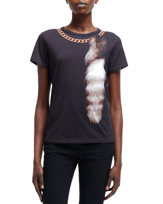 Fox-Tail & Chain Optic Print Tee